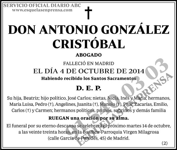 Antonio González Cristóbal